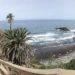 Atlantic Ocean Island with black sand Tenerife