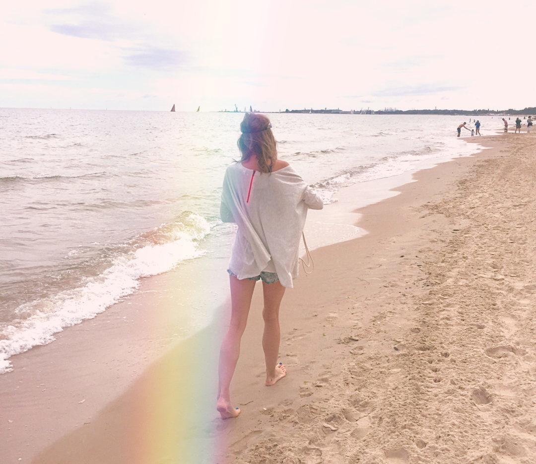 Spacer po plaży w Gdańsku