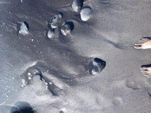 ślady serca na piasku